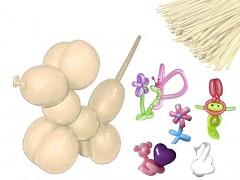 SMETANOVÉ Italské modelovací balónky extra dlouhé  1ks