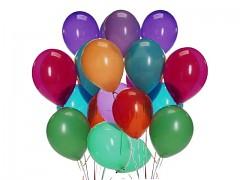 Nafukovací balónky latexové 36cm MIX, 1ks
