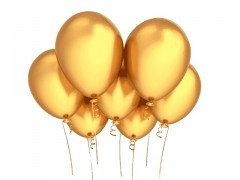 ZLATÝ Nafukovací balónek  27cm PERLEŤOVÝ extra pevný