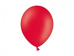 ČERVENÝ Nafukovací balónek  13cm pastelový extra pevný