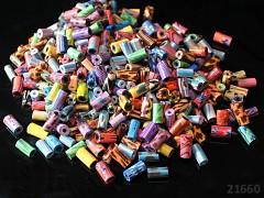 Pestrobarevný MIX korálky FIMO vzor.válečky  bal. 15g ± 50ks!