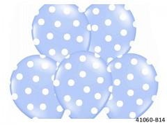SVĚTLE MODRÝ s bílými PUNTÍKY Nafukovací balónek  extra pevný