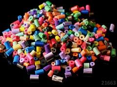 Pestrobarevný MIX korálky FIMO válečky bal. 15g ± 80ks!