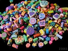 Pestrobarevný MIX korálky FIMO kreativní sada bal. 10g