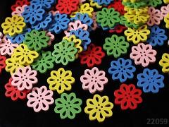 Pestrobarevný MIX korálky knoflíky - kytičky 20mm bal. 5ks