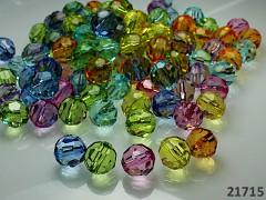 Pestrobarevný MIX korálky broušené korálky velké kuličky 12mm bal. 10ks