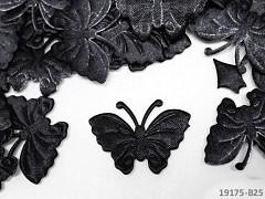 ČERNÝ motýlek ozdoba saténová, bal. 5ks