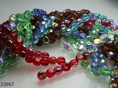 Pestrobarevný MIX korálky pokovené zmačkané AB bal. 10ks