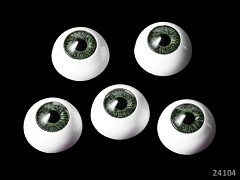 Oči na výrobu panenek s zelenou duhovkou, bal. 2ks