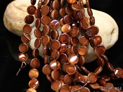 HNĚDÁ PERLEŤ lentilky přírodní minerál