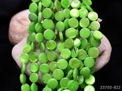 ZELENÁ LIMETKOVÁ PERLEŤ lentilky přírodní minerál