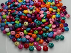 Pestrobarevné korálky broušené rondelky akryl 8/6, bal. 10g ± 65ks