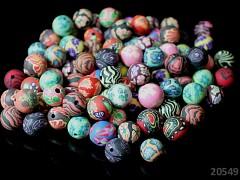 Pestrobarevný MIX korálky FIMO kuličky 10mm bal. 10ks