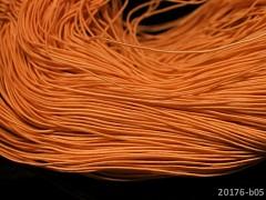 ORANŽOVÁ guma kulatá klobouková 1mm pruženka, 3m nebo 27m