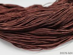 HNĚDÁ guma kulatá klobouková 1mm pruženka, 3m nebo 27m