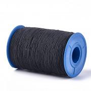 Černá guma kulatá TENKÁ pružná guma, á 1m