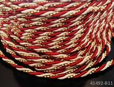 BORDÓ luxusní kroucená šňůrka zlatá