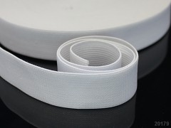 BÍLÁ pruženka guma plochá široká 30mm, á 1m