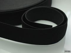 ČERNÁ pruženka guma plochá široká 30mm, 1 nebo 25m