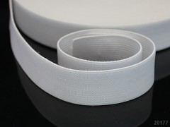 BÍLÁ plochá guma pruženka široká 20mm, á 1m