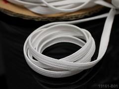 BÍLÁ pruženka guma prádlová 8mm ekonomy - 1 nebo 100m