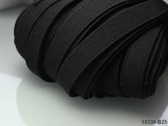 ČERNÁ plochá guma pruženka široká 7mm, á 1m