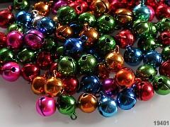 Barevná rolničky 10mm  vánoční ozdoba dekorace, balení 10ks