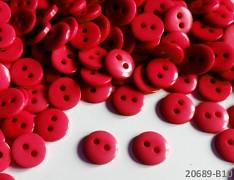 ČERVENÉ hladké kulaté mini knoflíky pryskyřice, 1ks, 15ks nebo 150ks