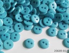 MODRÉ SVĚTLE hladké kulaté mini knoflíky pryskyřice, 1ks, 15ks nebo 150ks