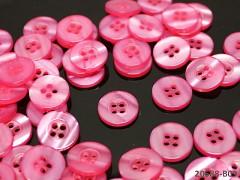 RŮŽOVÉ CYKLÁM perleťové knoflíky košilové, bal. 5ks