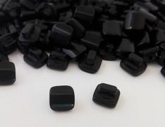ČERNÉ čiré hranaté knoflíky 10mm, 1ks