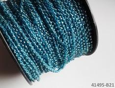 TYRKYSOVÝ rokajl vázaná šňůrka perliček metráž, á 1m