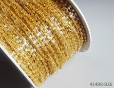 KRÉMOVÝ rokajl vázaná šňůrka perliček metráž, á 1m