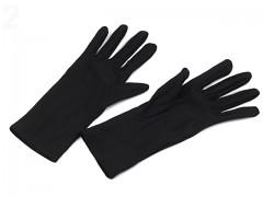 ČERNÉ dámské společenské rukavice do tanečních či na ples