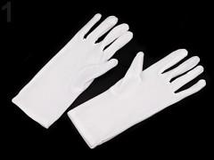 BÍLÉ dámské společenské rukavice do tanečních či na ples