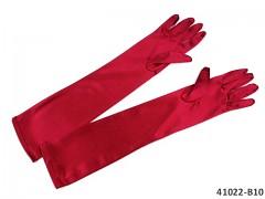 ČERVENÉ Dámské společenské rukavičky dlouhé