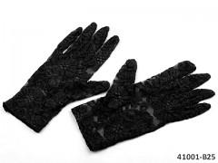 ČERNÉ vDámské společenské rukavičky krajkové