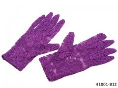 FIALOVÉ Dámské společenské rukavičky krajkové
