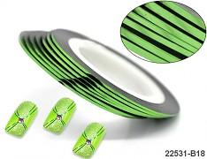 ZELENÁ lepící páska dekorační samolepící proužek