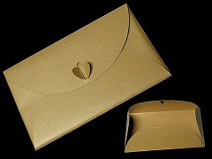 ZLATÁ perleťová obálka na peníze, blahopřání  či svatební oznámení