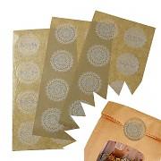 Samolepící krajková pečeť, ozdoba na obálky, blahopřání  či svatební oznámení