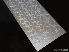 STŘÍBRNÉ samolepící svatební prstýnky scrapbooking, cardmaking
