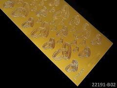 ZLATÉ samolepící svatební prstýnky scrapbooking, cardmaking