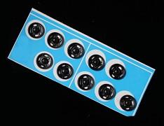 ČERNÉ kovové patentky 12mm, bal. 10ks