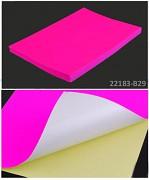 RŮŽOVÝ NEON samolepící papír, 1ks