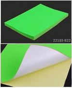 ZELENÝ NEON samolepící papír, 1ks