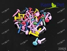Pestrobarevné scrapbooking hřebíčky kulaté nýty