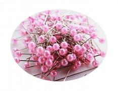 Růžové špendlíky - růžový špendlík  dekorační špendlíky