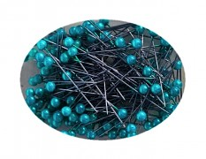 Petrolejové špendlíky - tmavě tyrkysový špendlík  dekorační špendlíky