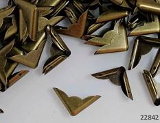 Kovové rohy 23mm bronzové, bal. 10ks